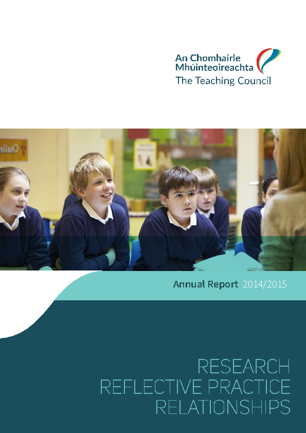 Annual Report 2014-2015 front page preview