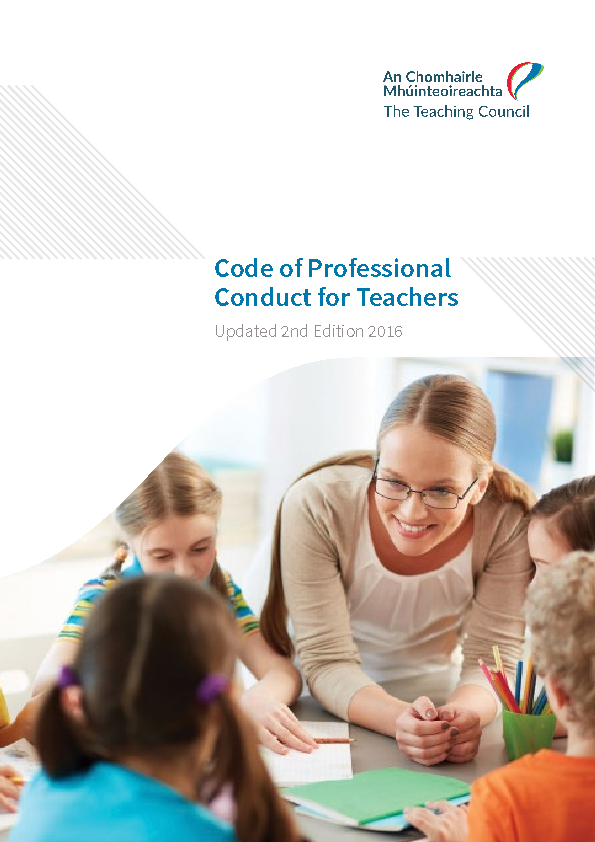 Code of Professional Conduct for Teachers front page preview