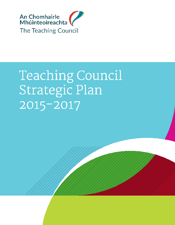 Teaching Council Strategic Plan 2015-2017 front page preview