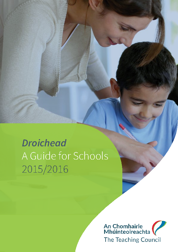 Droichead A Guide for Schools 2015-2016 front page preview