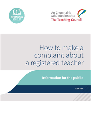 who can make a complaint about a registered teacher