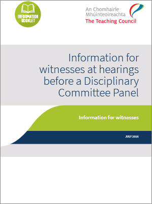 Witness Information booklet